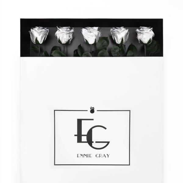 Long Stem Infinity Rose | Silver | 5 Roses