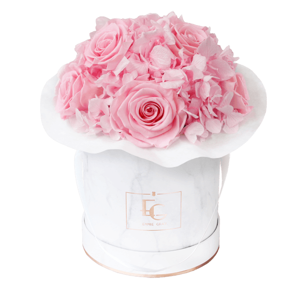 Splendid Hydrangea Infinity Rosebox   Bridal Pink   S