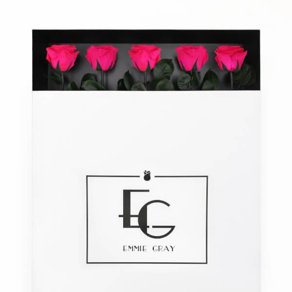 Long Stem Infinity Rose | Hot Pink | 5 Roses