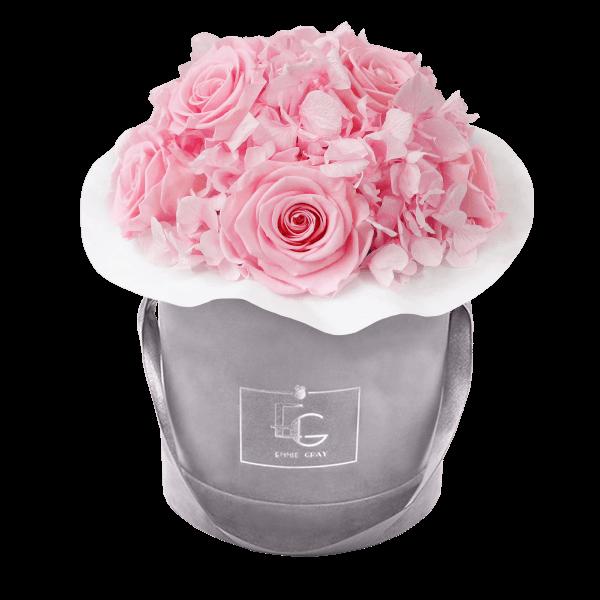 Splendid Hydrangea Infinity Rosebox | Bridal Pink | S