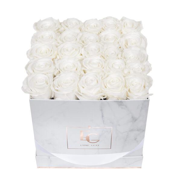 Classic Infinity Rosebox | Pure White | M