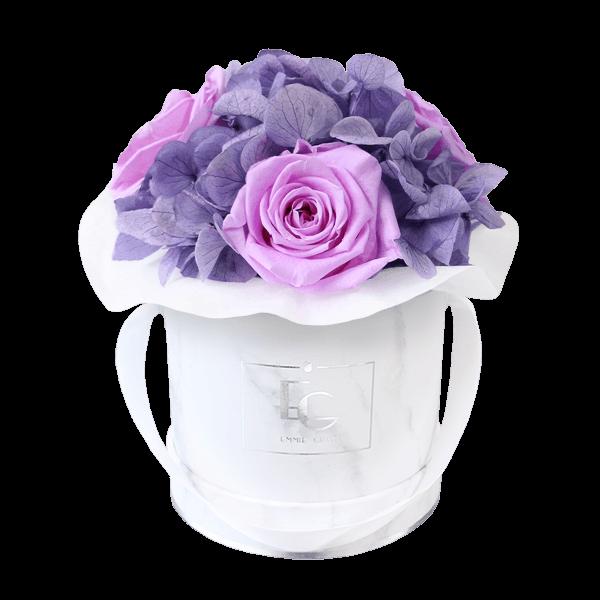 Splendid Hydrangea Mix Infinity Rosebox   Baby Lilli & Violet Vain   XS