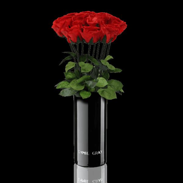 Classic Vase Set | Vibrant Red | 10 ROSES
