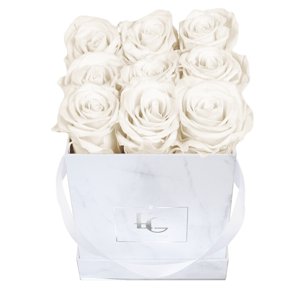 Classic Infinity Rosebox   Pure White   S