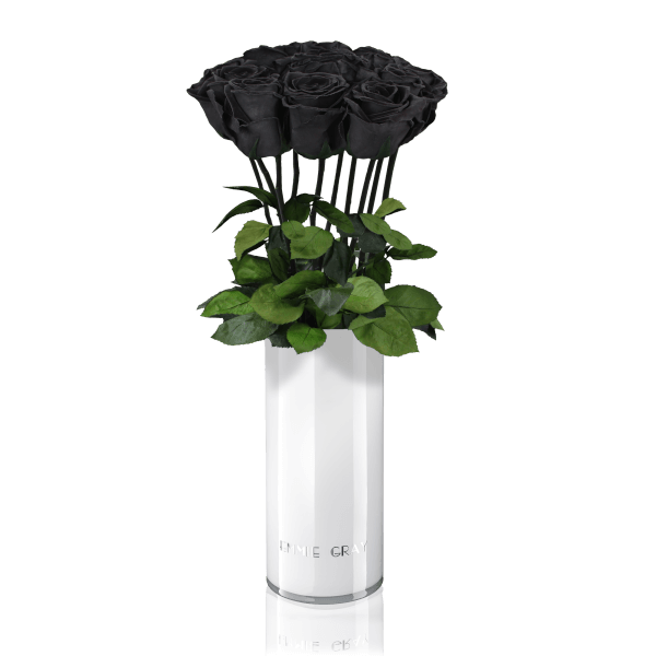 Classic Vase Set   Black Beauty   10 ROSES