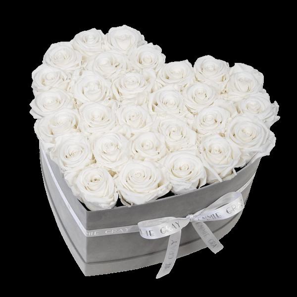 Classic Infinity Rosebox   Pure White   L