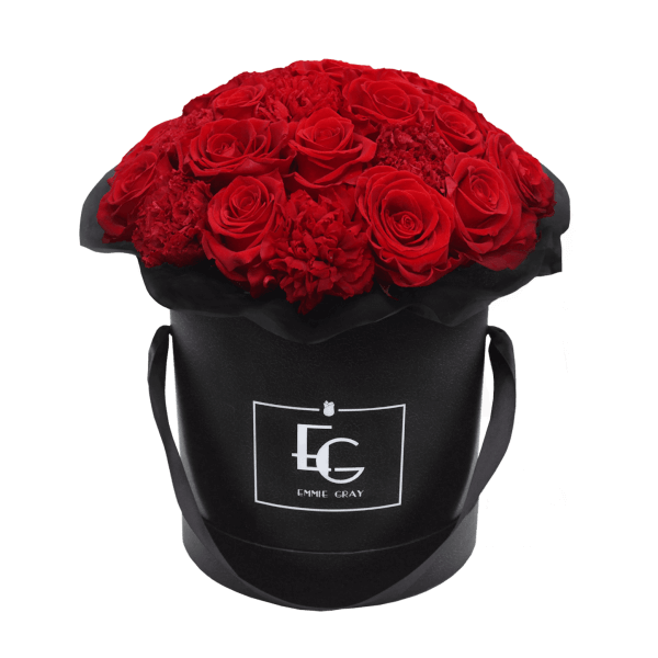 SPLENDID CARNATION INFINITY ROSEBOX | VIBRANT RED | M