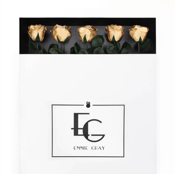 Long Stem Infinity Rose | Gold | 5 Roses