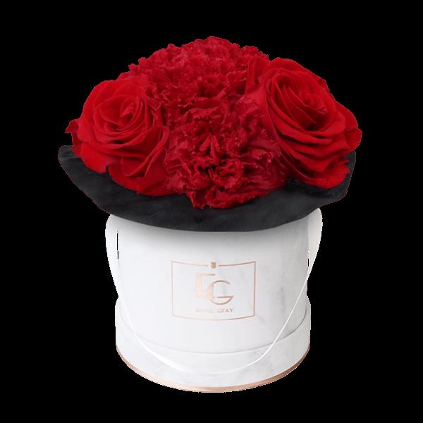 Splendid Carnation Infinity Rosebox | Vibrant Red | XS