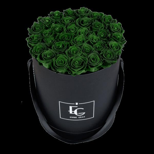 CLASSIC INFINITY ROSEBOX   EMERALD GREEN   L