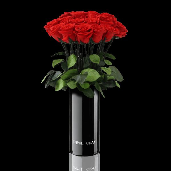 Classic Vase Set   Vibrant Red   15 ROSES