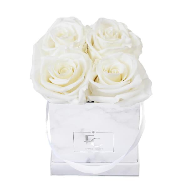 Classic Infinity Rosebox | Pure White | XS