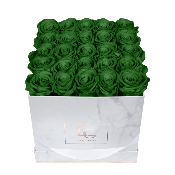 Classic Infinity Rosebox | Emerald Green | M