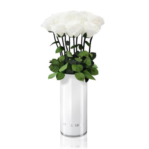 Classic Vase Set   Pure White   10 ROSES