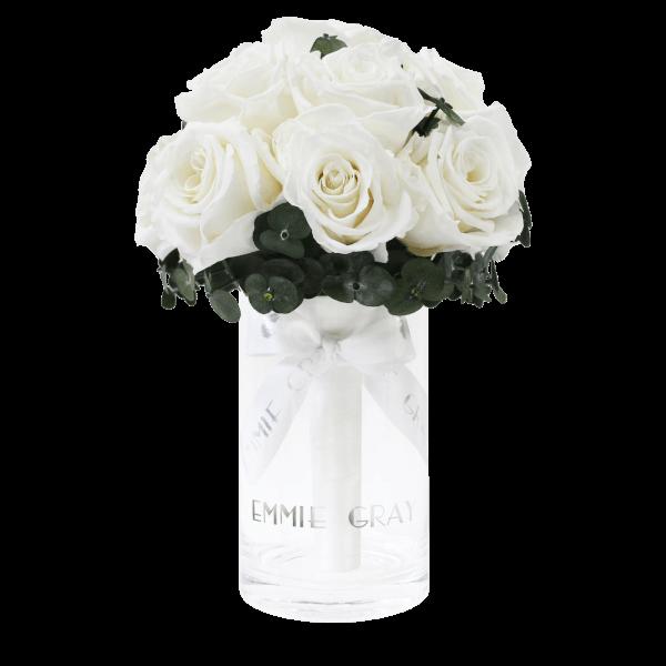 Romantic Eucalyptus Infinity Bouquet | Pure White | S