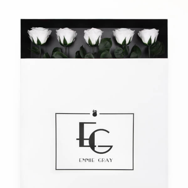 Long Stem Infinity Rose | Pure White | 5 Roses