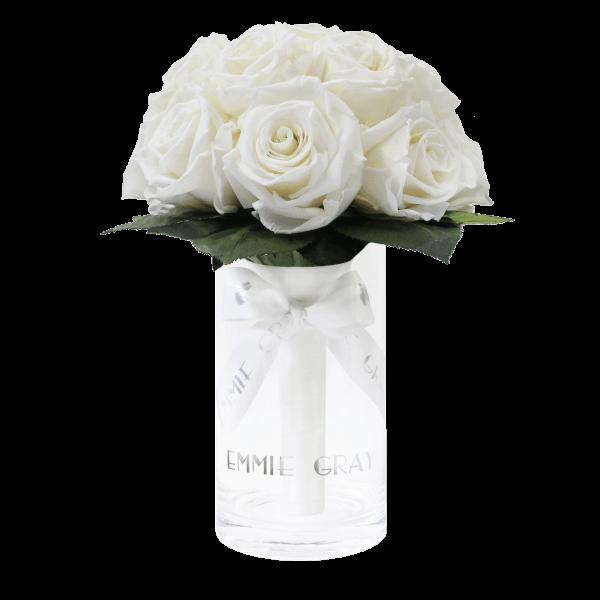 Romantic Infinity Bouquet | Pure White | S
