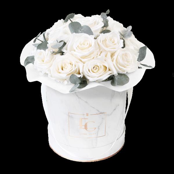 Splendid Eucalyptus Infinity Rosebox   Pure White   M