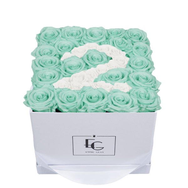 NUMBER INFINITY ROSEBOX | MINTY GREEN & PURE WHITE | M