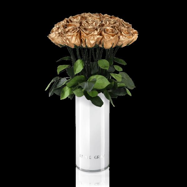 Classic Vase Set   Gold   15 ROSES