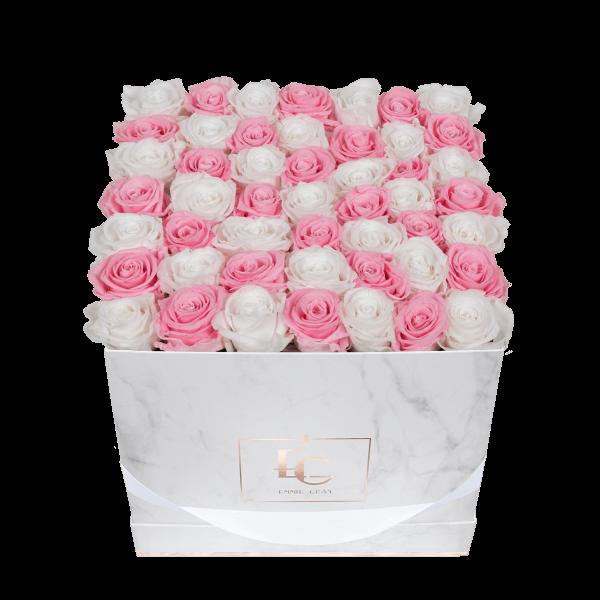 Mix Infinity Rosebox | Bridal Pink & Pure White | L