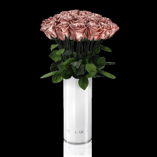 Classic Vase Set   Rose Gold   15 ROSES