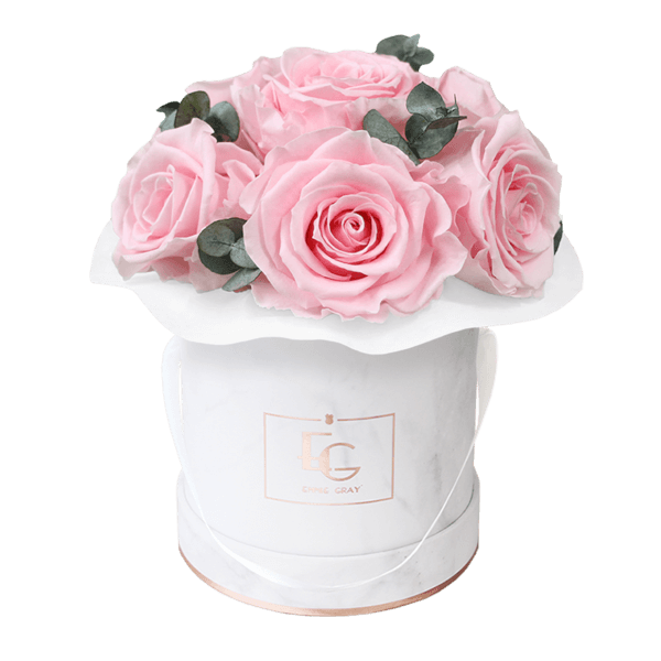 Splendid Eucalyptus Infinity Rosebox   Bridal Pink   XS