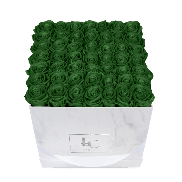 Classic Infinity Rosebox | Emerald Green | L