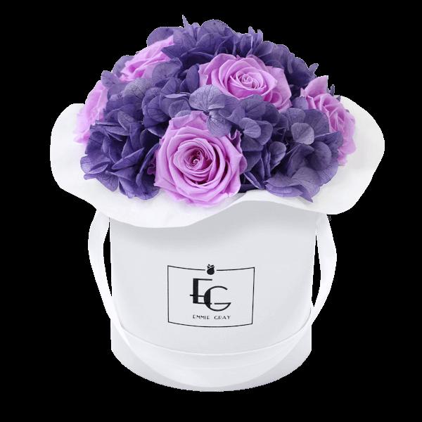 Splendid Hydrangea Mix Infinity Rosebox | Baby Lilli & Violet Vain | S