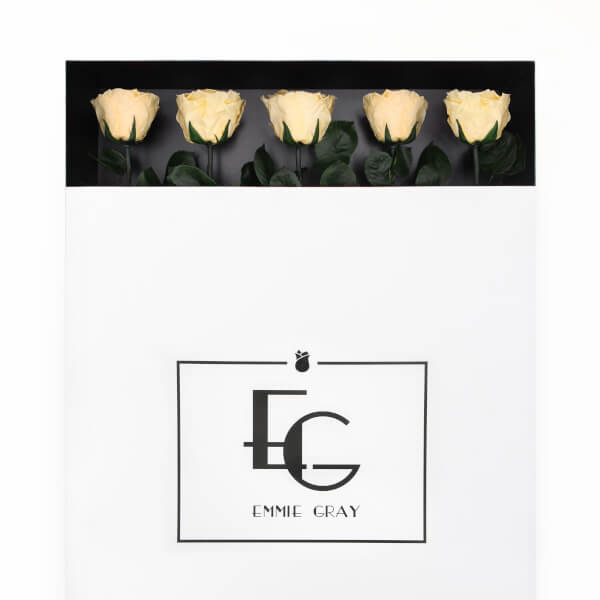 Long Stem Infinity Rose | Champagne | 5 Roses