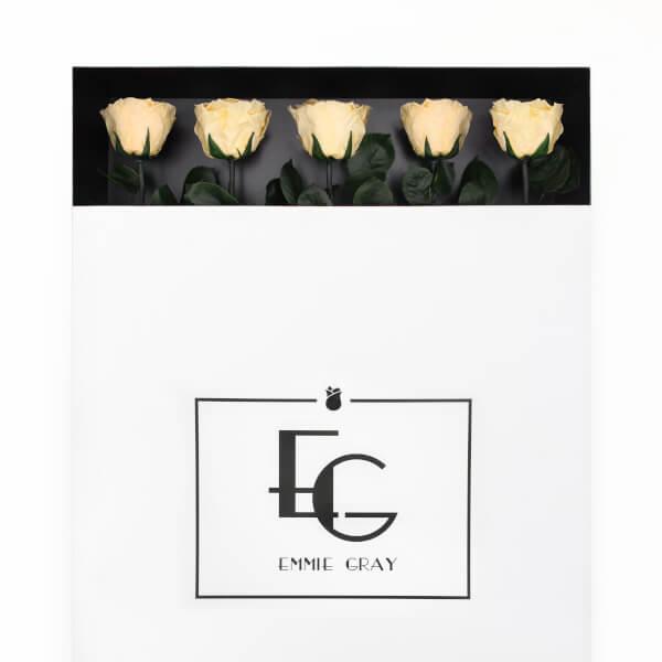 LONG STEM INFINITY ROSE | Champagne | 5 Rosen