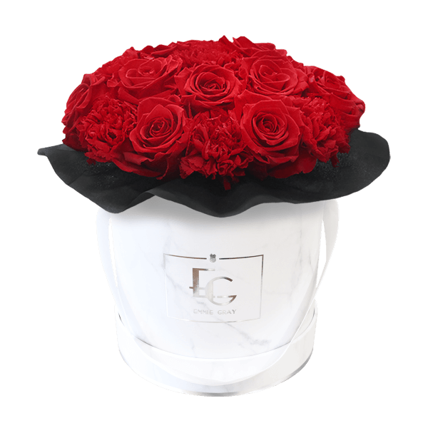 SPLENDID CARNATION INFINITY ROSEBOX | VIBRANT RED | S